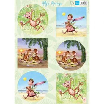 Marianne Design - Knipvellen - Hetty's monkeys