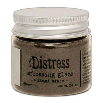 Ranger Distress Embossing glaze - Walnut stain