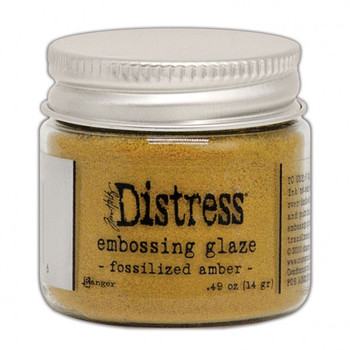 Ranger Distress Embossing glaze - Fossilized amber