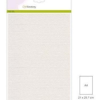 Craft Emotions - Canvas karton A4 - wit (10vl)
