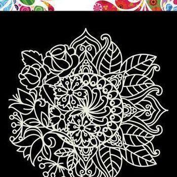 Mask Art - Mandala met bloem