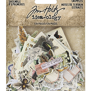 Tim Holtz Ideaology - Ephemera snippets - Field notes