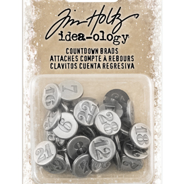 Tim Holtz Ideaology - Countdown brads (licht)