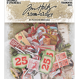 Tim Holtz Ideaology - Ephemera snippets - Christmas