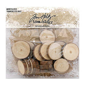 Tim Holtz Ideaology - Wood slices