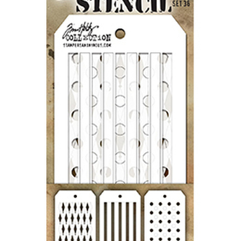 Tim Holtz - Mini stencils - set 36