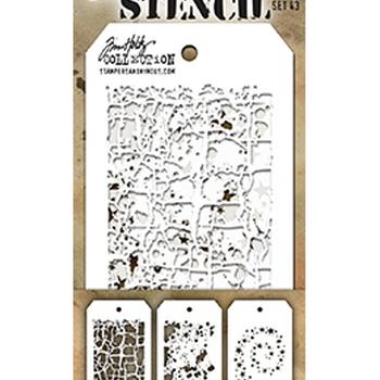 Tim Holtz Ideaology - Mini stencils - set 43