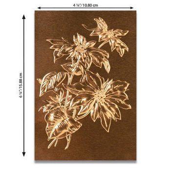 Sizzix - 3D Texture Fades Embossingfolder - Poinsettia
