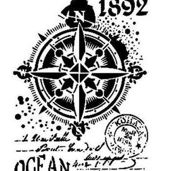 Cadence - Mask stencil - Ocean/kompas
