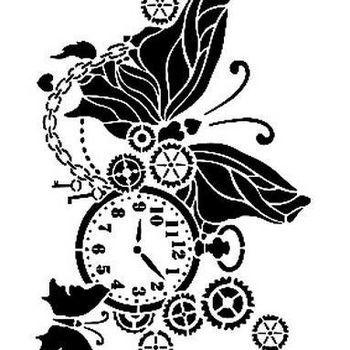 Cadence - Mask stencil - Zakhorloge/vlinder