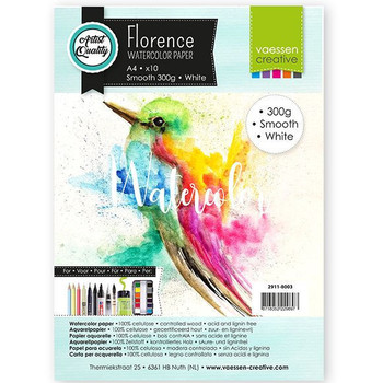 Aquarelpapier Florence - Smooth white A4 (300)