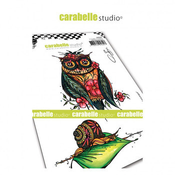 Carabelle - Cling stamp - Chouette et escargot