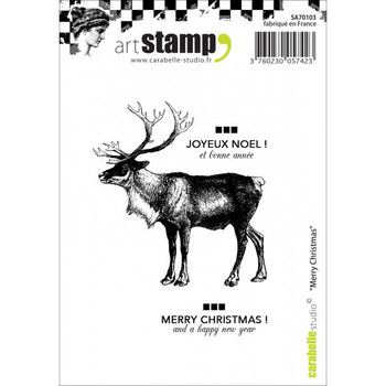 *Carabelle - Cling stamp - Merry Christmas