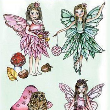 CraftEmotions - GB Dimensional stamp - Fairies