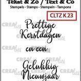 Crealies Clearstamp Tekst & zo - Kerst nr 23