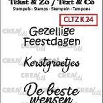 Crealies Clearstamp Tekst & zo - Kerst 24