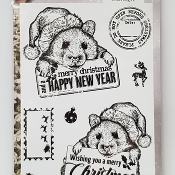 *COOSA Crafts Clearstamp - Xmas hugs 2