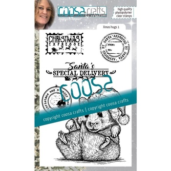 *COOSA Crafts Clearstamp - Xmas hugs 1