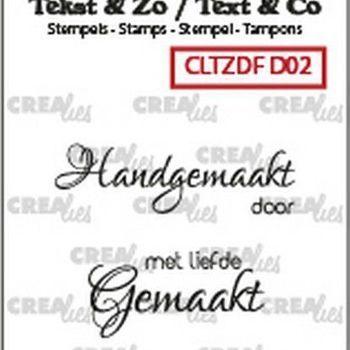 Crealies Clearstamp Tekst & zo - Divers nr 2