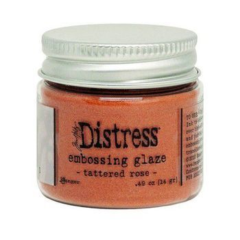 Ranger Distress Embossing glaze - Tattered rose