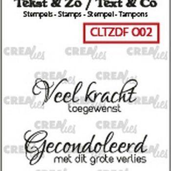 Crealies Clearstamp Tekst & zo - Overlijden (02)