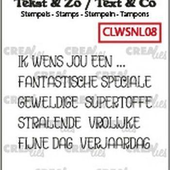 Crealies Clearstamp Tekst & zo - Ik wens jou een... (08)