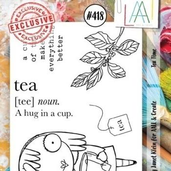 A&C - Stamp A7 - #418 Tea time