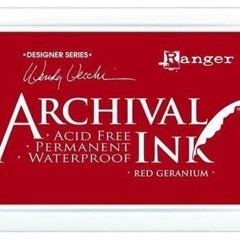 Archival Ink pad - Red geranium