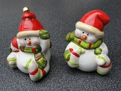 keramiek sneeuwman