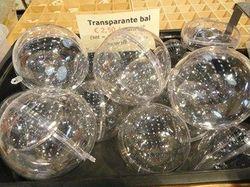 Plastic bal 10cm met seperateur