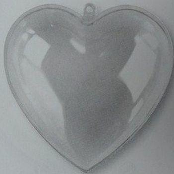 Plastic hart 10cm met seperateur