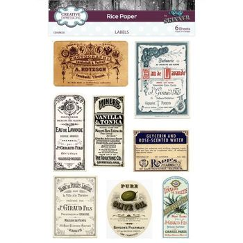 Mixed Media - Rice paper - Andy Skinner Labels