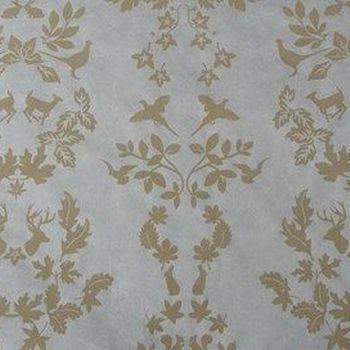 decoupage papier wit/beige forêt