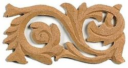 mdf ornament rechthoek krul