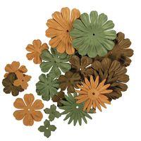 bloemen mix groen/bruin