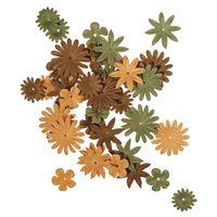 bloemen mix groen/bruin mini