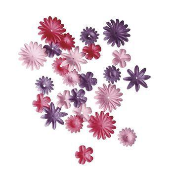 bloemen mix roze/paars mini