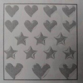 epoxy stickers hart/ster