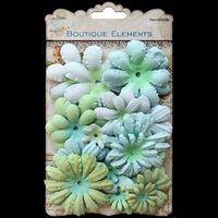 LB ass bloemen turquoois