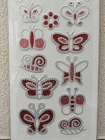 fashion sticker vlinder rood