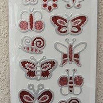 fashion sticker vlinder rood
