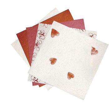 Natuurpapier assorti rood
