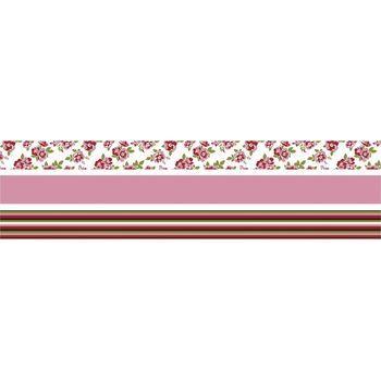 Fabric tape - set rozen