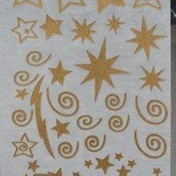 rub-on glitter sterren