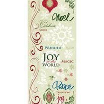 rub-on glitter- words & art kerst