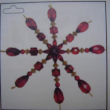 ster van acrylkralen wijnrood