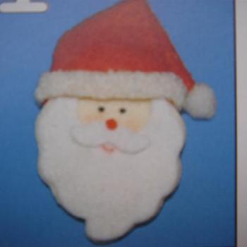 vilten figuur kerstmankop