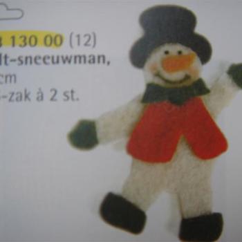 vilten figuur sneeuwman