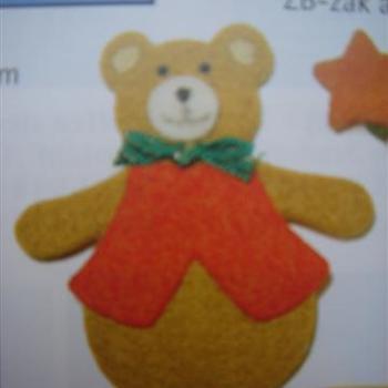 vilten figuur teddybeer