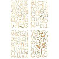 chipboard alfabet stickers Jovial